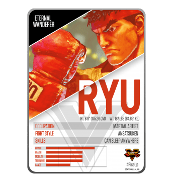 STREET FIGHTER V CARDS AND INFOGRAPH